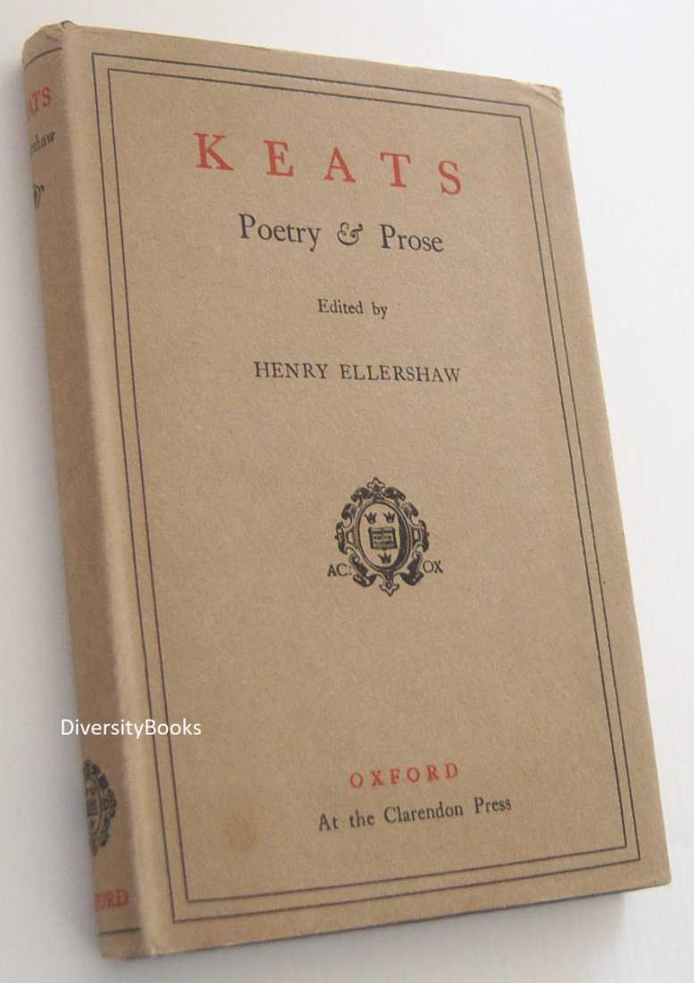 Image for KEATS POETRY & PROSE: With Essays By Charles Lamb, Leigh Hunt, Robert Bridges & Others