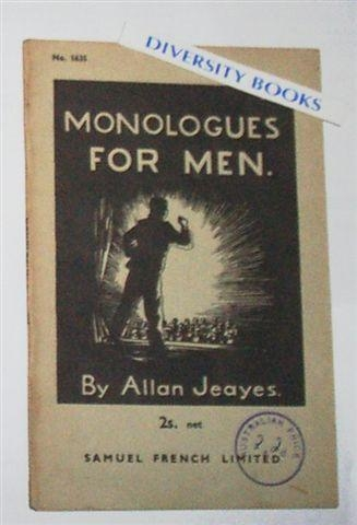 Image for MONOLOGUES FOR MEN