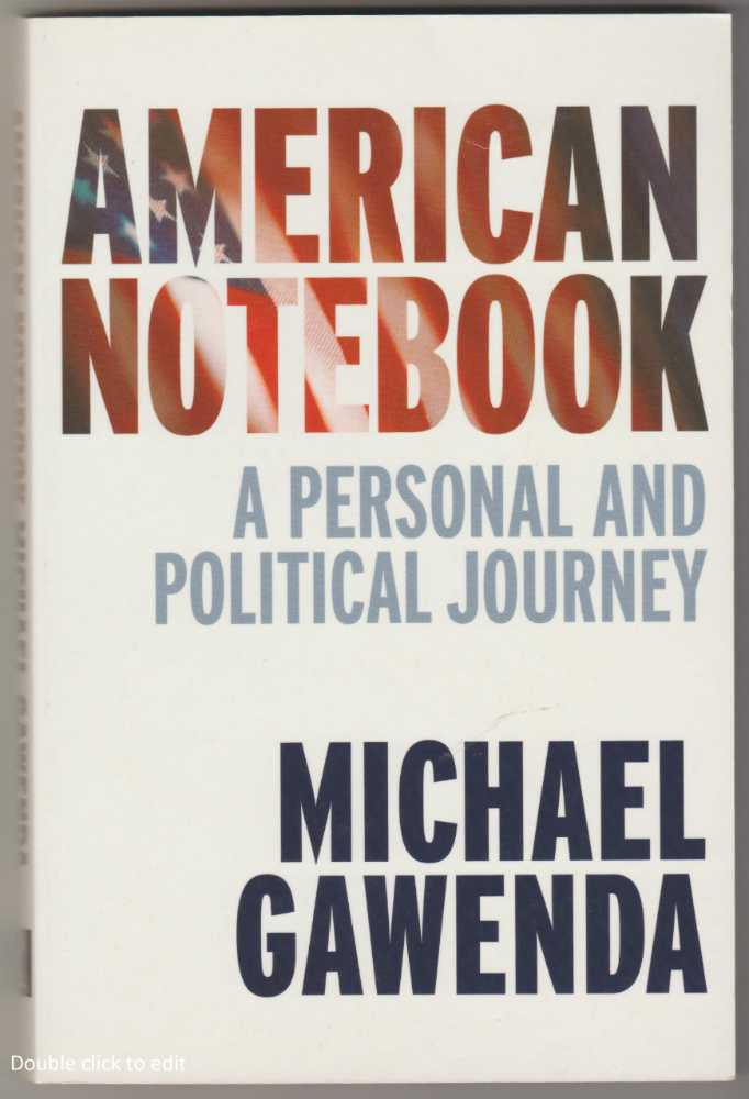 Image for AMERICAN NOTEBOOK: A Personal and Political Journey