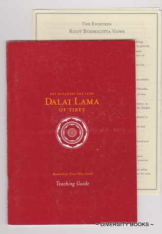 Image for HIS HOLINESS THE 14th DALAI LAMA OF TIBET Teaching Guide (Australian Tour, May 2002)
