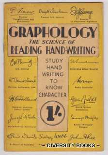 Image for GRAPHOLOGY : The Science of Reading Hand-Writing