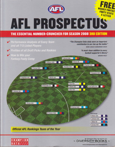 Image for AFL PROSPECTUS : The Essential Number Cruncher for Season 2008