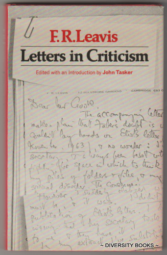 Image for LETTERS IN CRITICISM