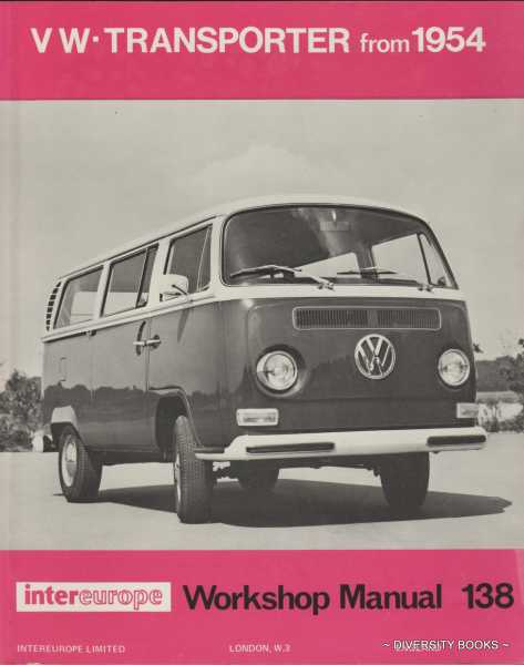 image for workshop manual for volkswagen transporter : all models