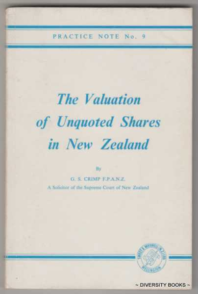 Image for THE VALUATION OF UNQUOTED SHARES IN NEW ZEALAND