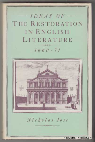 Image for IDEAS OF THE RESTORATION IN ENGLISH LITERATURE 1660-71