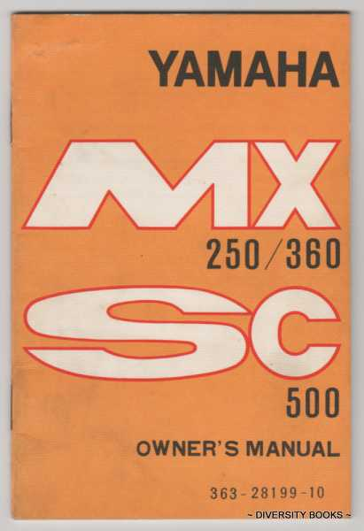 Image for YAMAHA MX 250/360. SC500 Owner's Manual