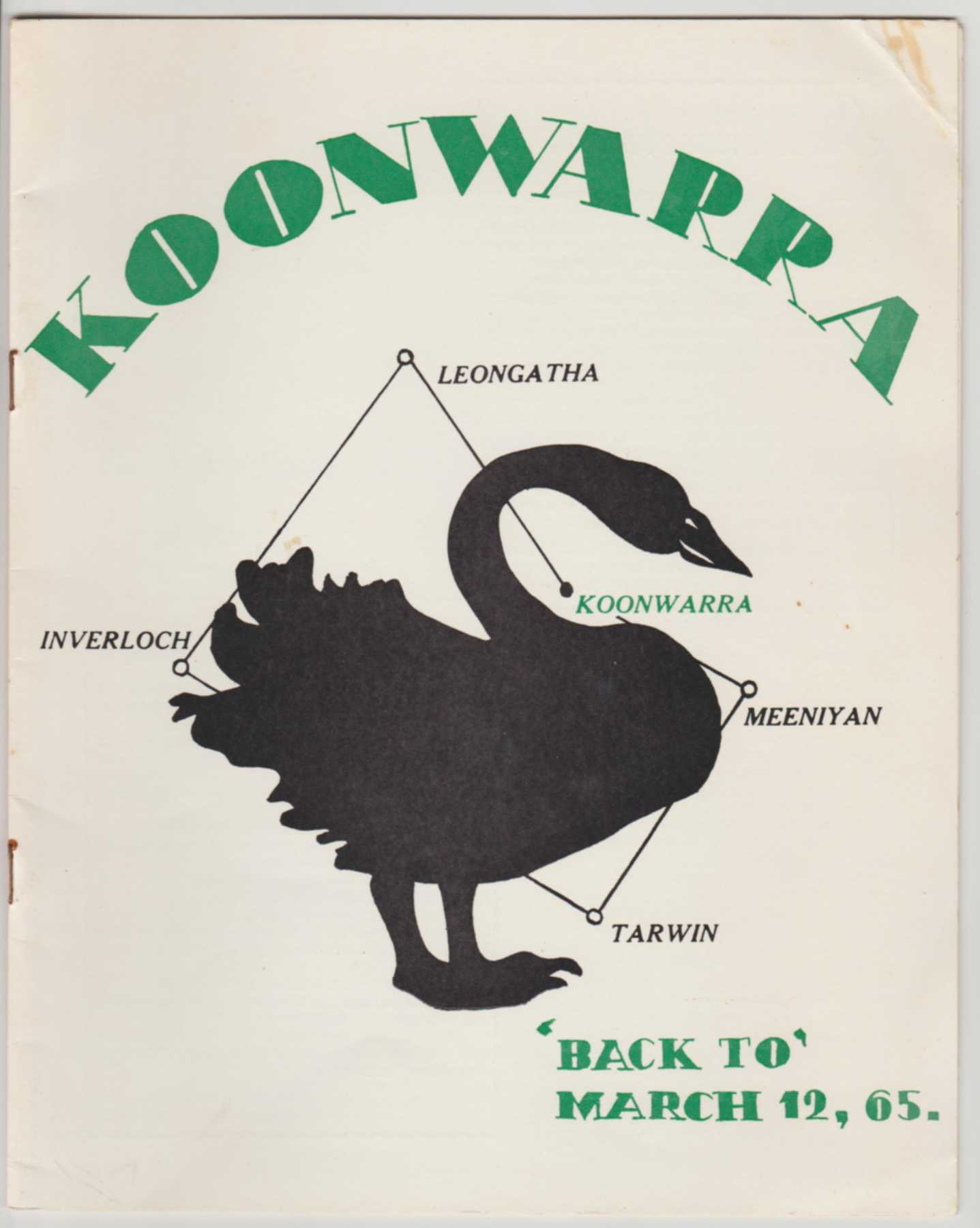 Image for KOONWARRA 'Back To', March 12, '65