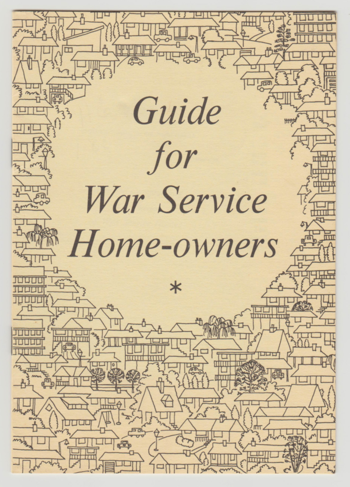 Image for GUIDE FOR WAR SERVICE HOME-OWNERS