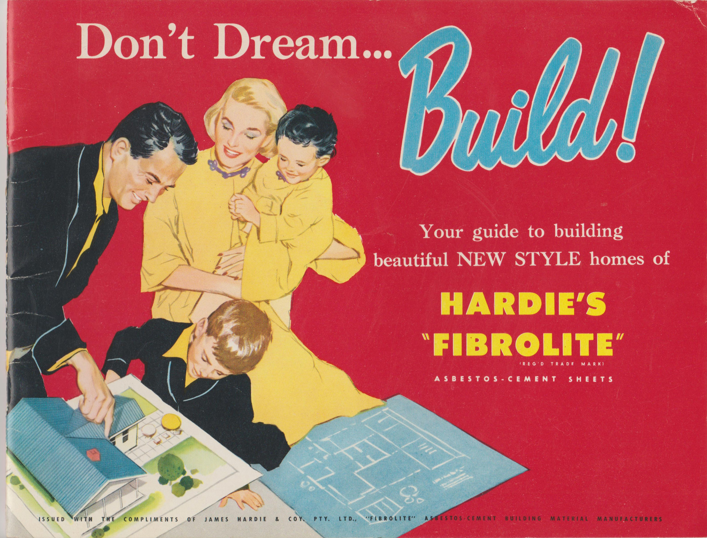"Image for DON'T DREAM . . . BUILD! Your Guide to Building Beautiful New Style Homes of Hardie's ""FIBROLITE"" (Product Brochure)"