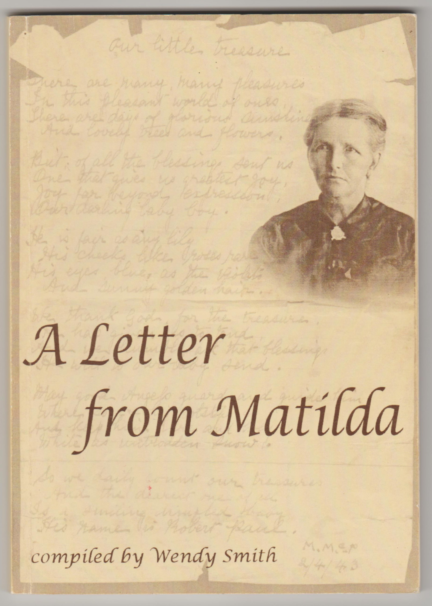 Image for A LETTER FROM MATILDA (Inscribed By Compiler)