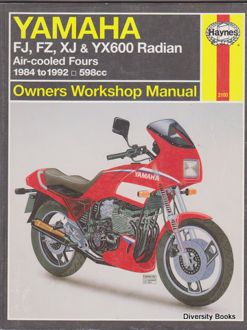 Image for YAMAHA FJ600, FZ600, XJ600 and XY600 RADIAN OWNERS WORKSHOP MANUAL. Air-cooled Fours 1984 to 1992: 598cc